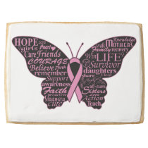 Breast Cancer Awareness Jumbo Shortbread Cookie