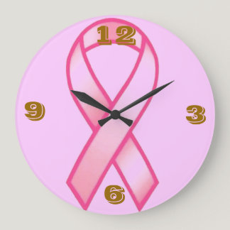 BREAST CANCER AWARENESS LARGE CLOCK