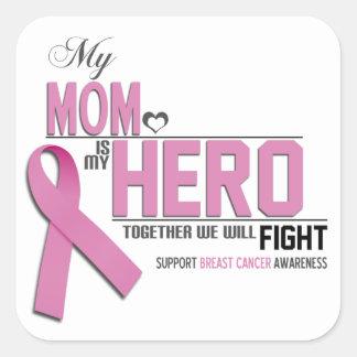 Breast Cancer Awareness: mom Square Sticker
