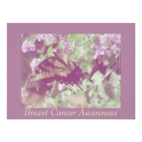 Breast Cancer Awareness - Monarch Butterfly. Poster
