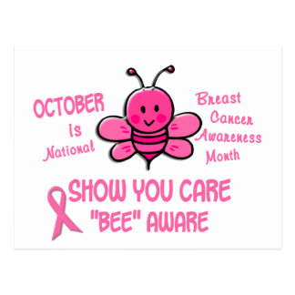 Breast Cancer Awareness Month Bee 1.1 Postcard