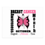 Breast Cancer AWARENESS Month Butterfly Postcards