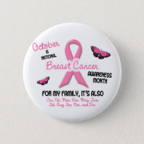Breast Cancer Awareness Month Button