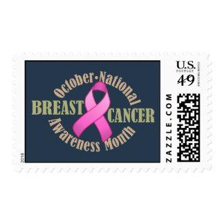 Breast Cancer Awareness Month Dark Postage