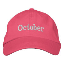 Breast Cancer Awareness Month Embroidered Baseball Cap