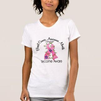 Breast Cancer Awareness Month Flower Ribbon 2 Shirts