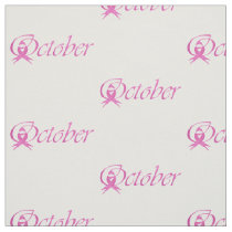 Breast Cancer awareness month October Fabric