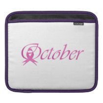 Breast Cancer awareness month October iPad Sleeve