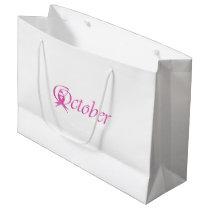 Breast Cancer awareness month October Large Gift Bag