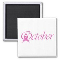 Breast Cancer awareness month October Magnet