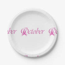 Breast Cancer awareness month October Paper Plate