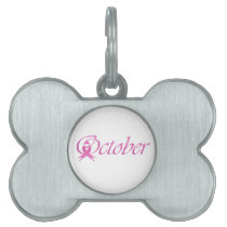 Breast Cancer awareness month October Pet ID Tag