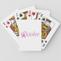 Breast Cancer awareness month October Playing Cards