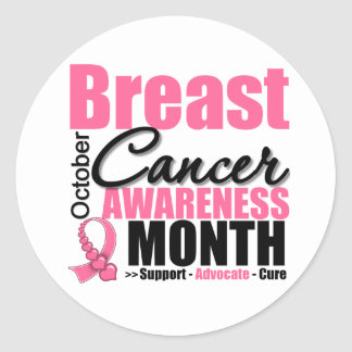 Breast Cancer Awareness Month - October Round Sticker