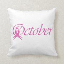 Breast Cancer awareness month October Throw Pillow