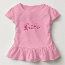 Breast Cancer awareness month October Toddler T-shirt