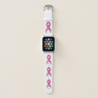 Breast Cancer Awareness Month October White Apple Watch Band