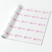 Breast Cancer awareness month October Wrapping Paper