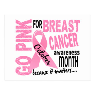 Breast Cancer Awareness Month Postcard