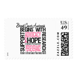 Breast Cancer Awareness Month Remembrance Postage Stamp