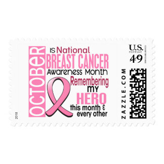 Breast Cancer Awareness Month Ribbon I2 1.2 Postage Stamps