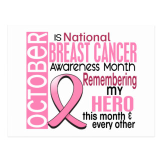 Breast Cancer Awareness Month Ribbon I2 1.2 Postcard