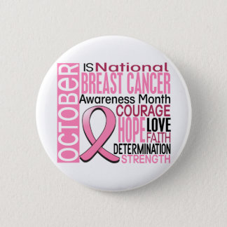 Breast Cancer Awareness Month Ribbon I2 1.3 Button