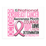 Breast Cancer Awareness Month Ribbon I2 1.3 Post Cards
