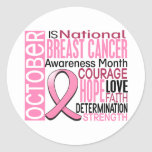 Breast Cancer Awareness Month Ribbon I2 1.3 Round Stickers