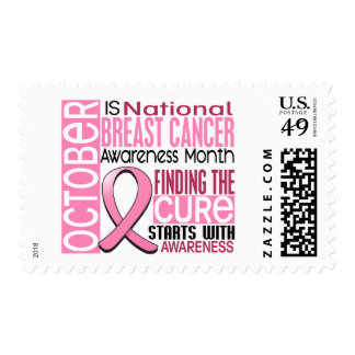 Breast Cancer Awareness Month Ribbon I2 1.5 Postage