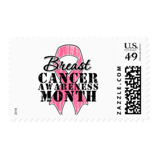 Breast Cancer Awareness Month Ribbon Postage Stamp