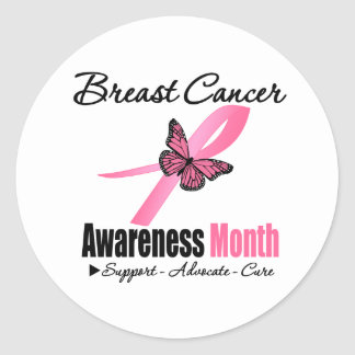 Breast Cancer AWARENESS Month Ribbon Stickers