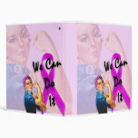 Breast Cancer Awareness Month, Rosie the Riveter 3 Ring Binder
