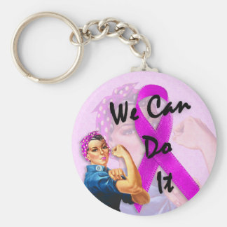 Breast Cancer Awareness Month, Rosie the Riveter Keychain