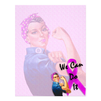 Breast Cancer Awareness Month, Rosie the Riveter Letterhead