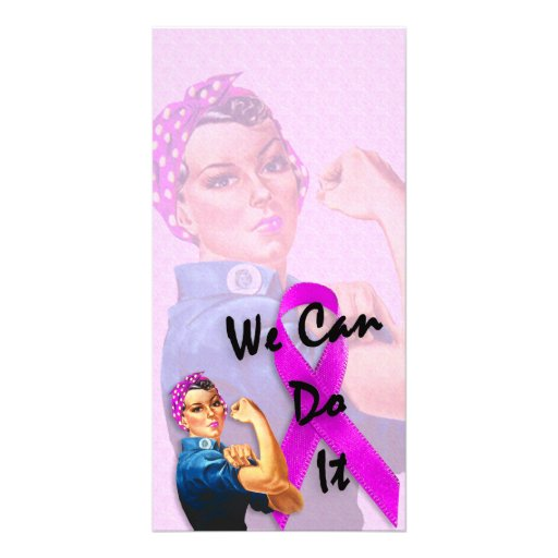 Breast Cancer Awareness Month, Rosie the Riveter Photo Greeting Card