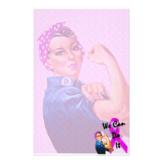 Breast Cancer Awareness Month, Rosie the Riveter Stationery
