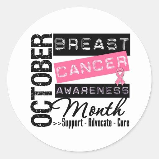 Breast Cancer AWARENESS Month Round Sticker