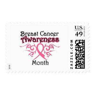 Breast Cancer Awareness Month Tribal Ribbon Stamp