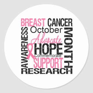 Breast Cancer Awareness Month Tribute v2 Round Sticker