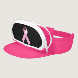 Breast Cancer Awareness Neon Pink Snap Visor