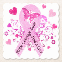 Breast Cancer Awareness Paper Coaster