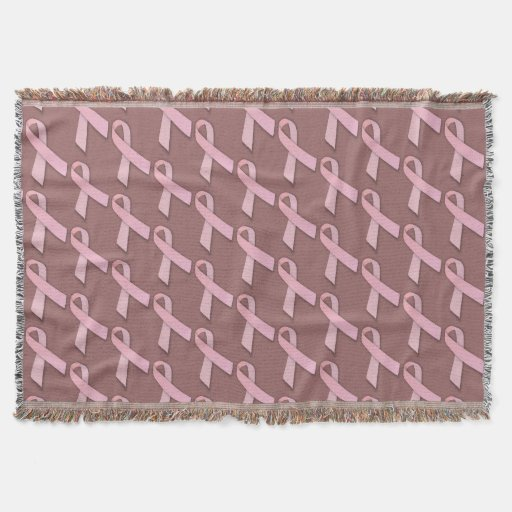 Breast Cancer Awareness Pattern Throw