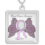 Breast Cancer Awareness Personalize Necklaces