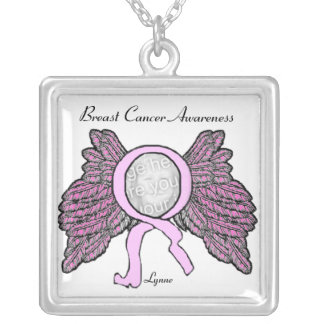 Breast Cancer Awareness Personalize Silver Plated Necklace