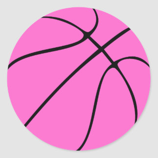 Breast Cancer Awareness Pink Basketball Stickers