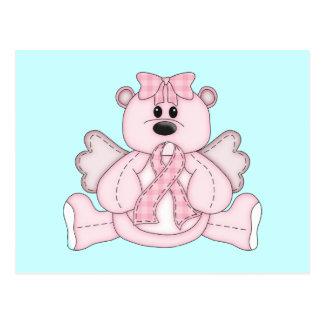 Breast Cancer Awareness Pink Bear Postcard