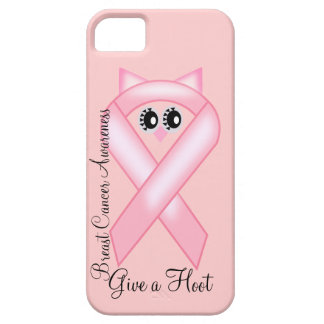 Breast Cancer Awareness - Pink Owl Ribbon iPhone SE/5/5s Case