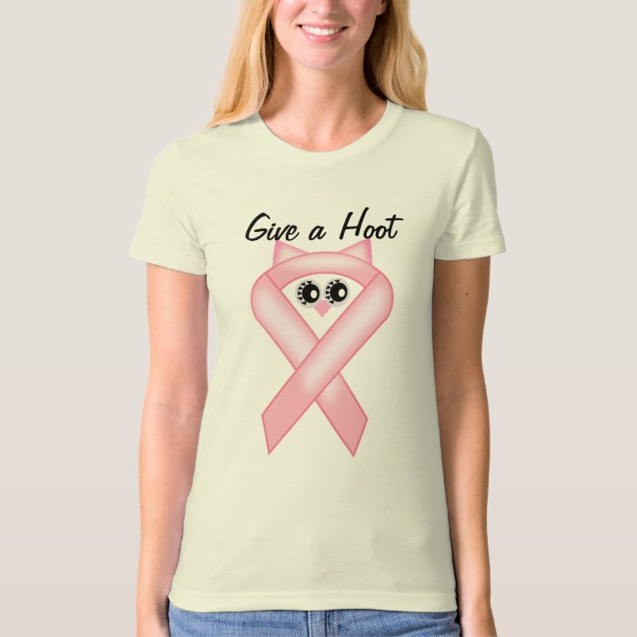 Breast Cancer Awareness - Pink Owl Ribbon T-Shirt