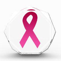 Breast cancer awareness pink ribbon award